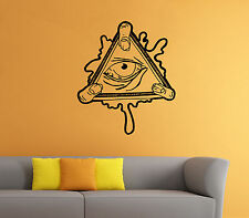All Seeing Eye Wall Decal Illuminati Sign Vinyl Sticker Wall Mural Home Decor 17