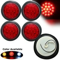 4x Car Truck Trailer LED Round Reflector Rear Tail Brake Stop Marker Light Red