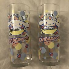 More details for sanrio cinnamoroll long tumbler glass / a set of 2 pcs from japan 2005