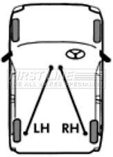 First Line Parking Hand Brake Cable Handbrake FKB2391 - 5 YEAR WARRANTY