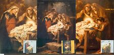 Vatican City Sc# 1371-3: Christmas 2007, 3 Maxi Cards