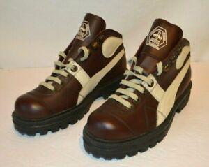 PUMA Rudolf Dassler Maroon Leather Hiking Riding Boots 4.5M / 6.5W Romania VNTG