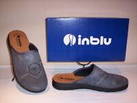 Inblu ciabatte pantofole chiuse uomo invernali da casa grigie slippers men nuove