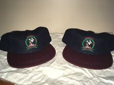 Vintage Disney Mickey Mouse Golf Hat Lot Of 2 NWT