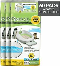 Purina Tidy Cats Breeze Litter System Cat Pad Refills 60 Pads Spring Clean Scent