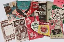 Lot of 10 Vintage Recipe Wartime Baking Canning Pamphlets Booklets Advertising