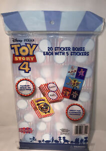 Toy Story 4 Sticker Treat Boxes Valentines 20 Boxes / 5 Stickers Per Woody Buzz
