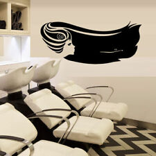 Wall Decal Stylist Mirror Hair Salon Beauty Hairdryer Scissors Laying M1170