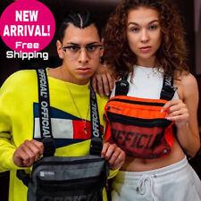 Waist Adjustable Bags Vest Functional Bag Chest Men Women Streetwear Hip Hop Rig