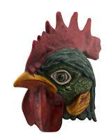Gallo Grande Maschera Di Venezia IN Carta Cartapesta Fatto a Mano Qualità 2488