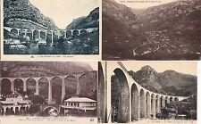 Lot 4 cartes postales anciennes GORGES DU LOUP viaduc 3