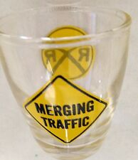 "Clear 2 1/4"" Humor Merging Traffic Rr Shot Glass"