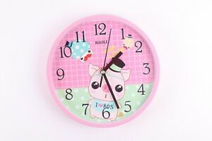 Kids Wall Clock With Cartoon Characters - 4 Colours & 4 Characters
