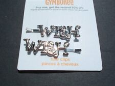 "Gymboree FAIRY WISHES Silver ""WISH"" Hair Bobby Pins~NWT!"