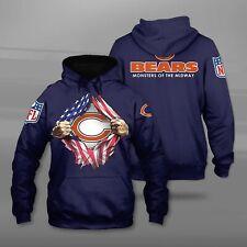 2020 Chicago Bears Football Hoodies Sweatshirt Men's Long Sleeve Hoodie Pullover