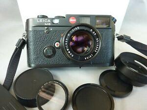Leica m6 noir 0.72 non TTL avec Summicron M 50 mm f 2 et boites d'origine EXC++