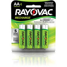 Rayovac AAA Rechargeable Batteries 4/pack, NiMH LD724-4OP Recharge Battery AAA4