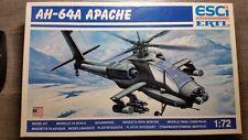 1/72 ESCI ERTL AH-64A APACHE HELICOPTER  MODEL KIT 9059  MODELLO ELICOTTERO