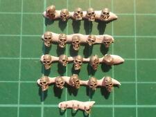 Warhammer 40K - 20 VARIOUS Human skulls Base decor - 40k bits