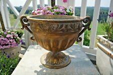 Nostalgie Amphore Jardiniere Haus Garten Deko Eisen 32x44x27cm Retro Stil oval g
