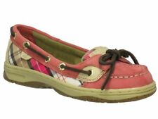 SPERRY TopSider Angelfish Red Weekend Plaid Boat Shoes NIB Youth 5 Wmns 7   37.5