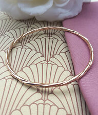 Solid 9ct Rose Gold Twist Slave Bangle Hand Made in Britain