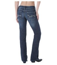 Wrangler Premium Ladies Dark Wash Boot Cut Jeans - 09MWZDO  Size 11/12 = Aus 16