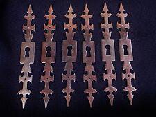 6  anciennes entrées de serrures début 20ème en fer , cuivrées rouge
