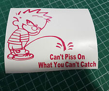 Calvin Can't Piss On What You Can't Catch Decals 5x6.2 Lingerie Light Bar Kits