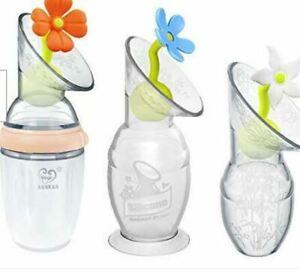Orange Haakaa Silicone Breast Pump Flower Stopper Breast Feeding Baby Nursing