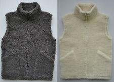 Weste aus 100% Merino Wolle mit Reißverschluss