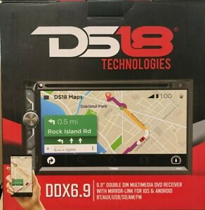 "DS18 - DDX6.9 - 6.9"" Touchscreen Double-Din Headunit with DVD, Bluetooth, USB"