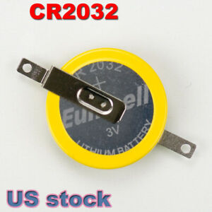 NEW CR2032 Lithium Battery with solder tab for Nintendo, Super Nintendo, Genesis