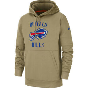 New NFL Buffalo Bills Nike Salute to Service Sideline Therma Pullover Hoodie NWT