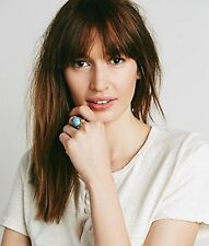 Free People Rings New Moon Ring Turquoise Brass Size 5.75 Women's Jewelry