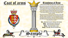 Dindee-Ormun COAT OF ARMS HERALDRY BLAZONRY PRINT