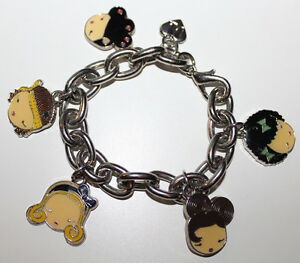 "Gwen Stefani Harajuku Lovers 8"" Charm Bracelet Love Music Lolita Angel Baby G"