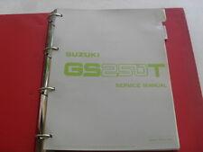 USED GENUINE SUZUKI GS250T GS300L 1981 DEALER SERVICE MANUAL 99000-85551-0E3