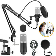 BM-800 Pro Kondensator microphone Mikrofon Kit Komplett Set für Studio Silber