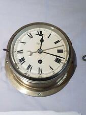 Antique Original SMITH ASTRAL Nautical Marine Solid Brass Ships Bulkhead Clock