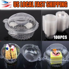 Clear Plastic Single Wedding Cupcake Gift Pod/Box With Dome Lid Container Cases