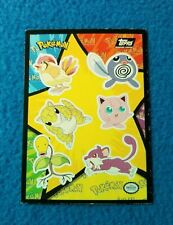 Pokemon The First Movie Topps Sticker Chase Card #14