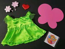 "BUILD-A-BEAR BABW CLOTHES FITS 7"" PLUSH CRAFTSHOP FAIRY DRESS WINGS PATCH HEART"
