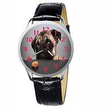 Pug Cookie Stainless Wristwatch Wrist Watch