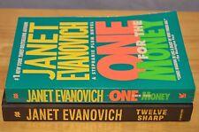Janet Evanovich lot of 2 books Stephanie Plum One for the Money Twelve Sharp