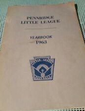 Pennridge Little League Yearbook 1963 Little League Baseball