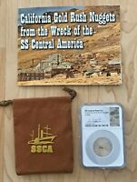 California Gold Rush Nugget from the Wreck of the SS Central America  0.48g NGC