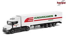 Herpa 312080 H0 Scania Hauber Planen-Sattelzug Hungarocamion 1:87 ++ NEU & OVP