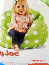 My Big Joe Kids Game Room Classic 88 Green White Polka Dot Bean Bag Chair Cover