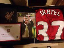 Liverpool Vs Norwich Martin Skrtel 37 Match Worn Shirt. Official LFC Box. COA